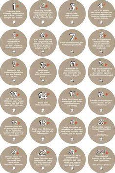 Weiteres - Adventskalenderzahlen mit Aufgaben für Erwachsene - ein Designerstück von Eine-der-Guten-Illustration bei DaWanda