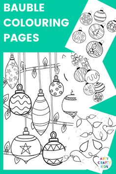 Children's Christmas Colouring Pages to print and colour. A gorgeous collection of Santa Claus, Snowflake, Rudolph and Bauble Colouring Pages. Preschool Christmas Crafts, Christmas Art Projects, Christmas Crafts For Kids To Make, Childrens Christmas, Toddler Christmas, Christmas Activities, Family Activities, Preschool Coloring Pages, Coloring Pages For Boys
