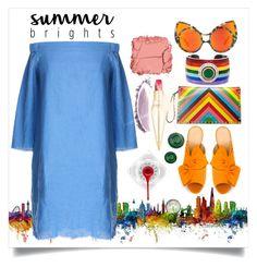 """City Summer Brights"" by capricat ❤ liked on Polyvore featuring Valentino, Elizabeth Raine, Ciner, Charlotte Olympia, TIBI, Christian Louboutin, NARS Cosmetics, Illamasqua and summerbrights"