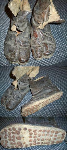 Antique samurai nerigawa kutsu (leather shoes).