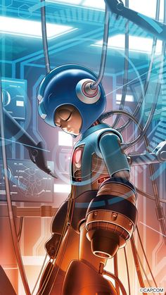 Mega man By Shinkiro Mega Man, Metroid, Geeky Wallpaper, Megaman Series, Arcade, Fighting Robots, Astro Boy, Video Game Characters, Marvel Vs