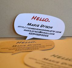 artsy business card - Google Search