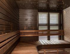 Tumma sauna mork bastu Aveo Vaasa Sauna Design, Saunas, Dream Rooms, Blinds, Spa, Homes, Pictures, Home Decor, Photos