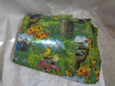 Cotton Quilting Sewing Fabric  Birds in Nature 3 door sandycraftshop, $8,00