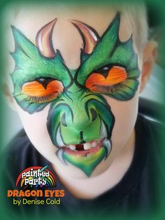 Face Painter in Charlotte Dinosaur Face Painting, Face Painting Halloween Kids, Monster Face Painting, Dragon Face Painting, Girl Halloween Makeup, Face Painting For Boys, Baby Girl Halloween, Face Painting Designs, Body Painting