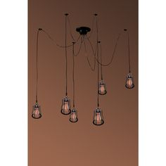 Salome 6-light Adjustable Height Black Edison Chandelier with Bulbs $173