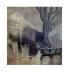 'Père Lachais Cemetery in the Mist, Paris', acrylic on canvas, Hiawyn Oram 2013. SOLD