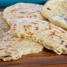 Try this Indian Naan bread recipe by Chef Anna Olson. This recipe is from the show Bake With Anna.