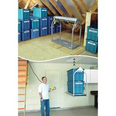 Use This Motorized Storage Lift To Effortlessly Move Bulky Loads Out Of  Sight. Thereu0027s No Need To Risk Damaging Your Back Hauling Things Into The  Attic Or ...