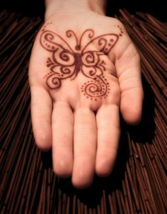 Butterfly Henna Designs for Hands