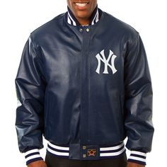 ea20bacacf1 New York Yankees Leather Jacket by JH Design Colorado Avalanche