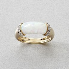 Opal ring~I would like to see this in white gold.