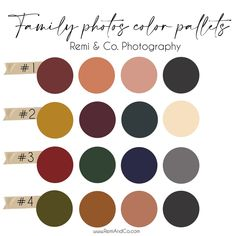 What to wear to your fall family photo session with color pallet ideas and links to outfit options. Handpicked by Oklahoma family photographer Remi & Co. Photography based out of Stillwater, Oklahoma Fall Family Picture Outfits, Family Picture Colors, Family Photos What To Wear, Fall Family Photo Outfits, Family Photography Outfits, Family Portrait Outfits, Fall Family Portraits, Family Photo Sessions, Lifestyle Photography