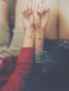 small heartbeat tattoo idea #ink #EKG #girly