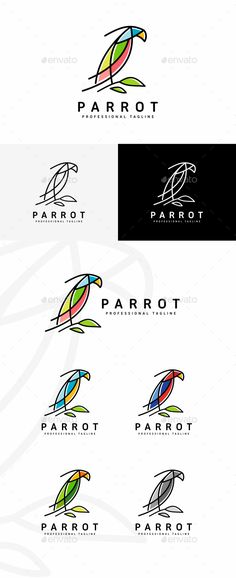 Parrot Logo #trip #trade  • Download here → https://graphicriver.net/item/parrot-logo/20395587?ref=pxcr