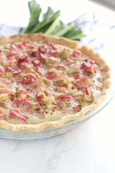 Old Fashioned Rhubarb Pie has a classic custard base filled with tangy sweet rhubarb. A classic rhubarb recipe handed down from my great grandma. Rhubarb Desserts, Just Desserts, Delicious Desserts, Healthy Rhubarb Recipes, Pie Recipes, Dessert Recipes, Cooking Recipes, Recipies, Salad Recipes