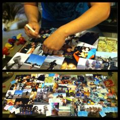 DIY Collage Coffee Table!