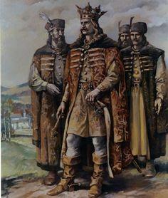 STEFAN CEL MARE SI SFANT History Of Romania, Republica Moldova, Vlad The Impaler, Fantasy Concept Art, Religious Art, Dracula, Medieval, Character Design, Armors