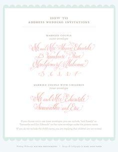 Wedding Wednesday / addressing wedding invitations