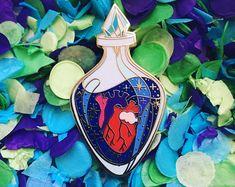 Love Potion Anatomical Heart Enamel Pin