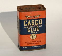 Antique Glue Cannister. available at www.JunkDrunkJones.com!