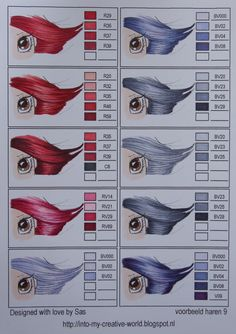 hair colors - copic