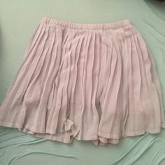 Pale Blue Pleated Mini Skirt Nordstrom Purchased at nordstrom - ruby & bloom brand. Topshop for exposure. Childrens size large - fits women XS. pale blue pleated mini skirt. Some of the pleats are wrinkled and need to be ironed out (price reflects) Lined under with knit. Topshop Skirts Mini