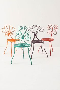 ONE SIZEShow  QuantityShowadd to bag  Add To Wish ListSend To Friend  DETAILS  A garden chair of colorful flourishes, inspired by the designs of traditional wrought iron fencing. By British designer and artist David Le Versha.