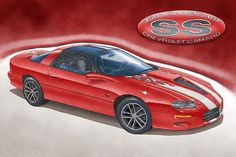 2002 Camaro SS 35th anniversary owner art print