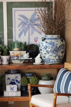 - Architecture and Home Decor - Bedroom - Bathroom - Kitchen And Living Room Interior Design Decorating Ideas - Decor Interior Design, Interior Design Living Room, Interior Decorating, Room Interior, Decorating Ideas, Blue And White China, Blue China, Ginger Jars, White Decor