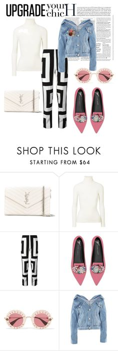 """""""Untitled #42"""" by madalinac9 ❤ liked on Polyvore featuring Yves Saint Laurent, JoosTricot, Kenzo, Giuseppe Zanotti, Gucci, Topshop and Chanel"""
