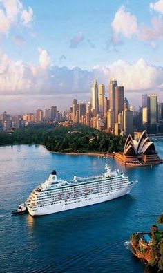 Crystal Cruise ship in Sydney Australia Is most commonly referred to as Crystal Cruises, a Japanese luxury cruise line. Readers of Condé Nast Traveler have voted the line Best Midsize Cruise Ship Line. Places Around The World, The Places Youll Go, Travel Around The World, Places To See, Around The Worlds, Dream Vacations, Vacation Spots, Cruise Vacation, Honeymoon Cruises