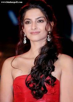 Sonam Kapoor Glamorous Hairstyles http://www.livefitandhealthylife.com/2015/03/sonam-kapoors-glamorous-hairstyle.html