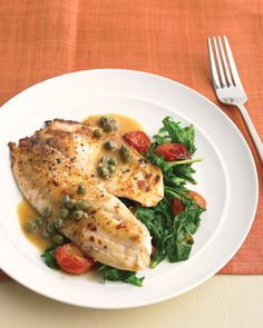 Watch Everyday Food editor Sarah Carey cook up a light, fresh fish recipe of tilapia with bright vegetables and a buttery pan sauce that you're sure to love.