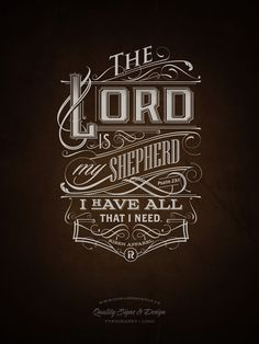 The Lord | Typography on Behance Tomasz Biernat. Love his work. Have purchased several shirts with his designs from Risen Apparel.
