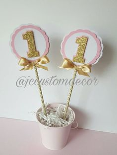 One Birthday Girl Centerpieces-Pink Gold One Centerpieces-Pink Gold Centerpiece-Girl First Birthday Centerpiece-One Centerpieces-Pink Gold Toy Story Birthday, Girl First Birthday, Princess Birthday, 1st Birthday Parties, Princess Sofia, First Birthday Centerpieces, Birthday Party Decorations, Mickey Mouse Parties, Mickey Mouse Birthday