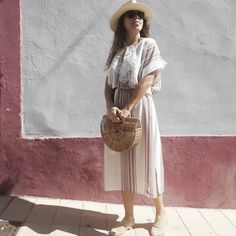 How to wear City Break Style Kaftans. On a recent trip to Valencia I started wearing my Kaftans differently, fed up of reserving them for the beach. Kaftans, City Break, Bibs, Straw Bag, Bikinis, Style, Fashion, Caftans, Dribble Bibs
