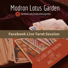 Remember, next Saturday I\'ll be doing a Facebook Live tarot reading session. Those who sign-up through clicking the link will be able to have FREE one-three card tarot reading from me!  Here\'s how you sign up if you haven\'t yet: 1) Follow my Facebook page for my shop; that\'s where the live stream will take place. 2) Sign up through this link in order to reserve a spot during the live stream for your tarot reading. You can only receive a reading his! ->> http://eepurl.com/cIqI_v 3) Save the date and join me on April 15th.  I hope to see you there!