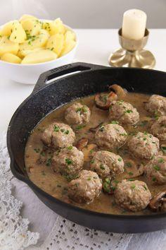 polish meatballs sauce 5 Polish Meatballs with Mushroom Sour Cream Gravy
