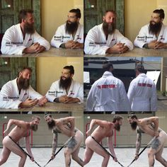 Jumbo and Burnzie will be in the 2017 ESPN Body Issue - you can't un-see this.