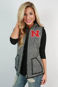 University Of Nebraska Herringbone Vest