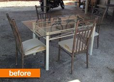 Before & After: Patio Table Gets Rustic Chic Makeover