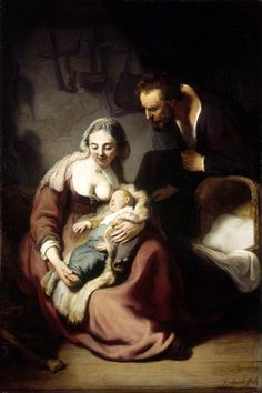The Holy Family - by Rembrandt