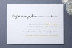 script invitation, simple