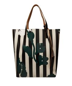 Marni, Printed Vinyl and Leather Shopper, £198.00. A great companion to a simple 'white shirt and jeans' outfit. Make it the focal point of your off-duty look. #LibertyAcc #Bags #Totebags