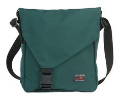 Large Cafe Bag - Every Day Carry Vertical Messenger Bag - TOM BIHN - in the Plum/Wasabi color combination