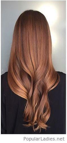 Amazing sun kissed auburn hair color