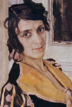 The Spanish woman at Balcony, Alexander Yakovlevich GOLOVIN - Detail