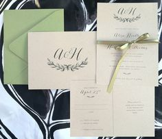 Kraft wedding invitations