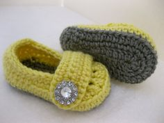Spring Baby Girl Shoes / Slippers / Booties Grey & by abitofLovely, $20.00